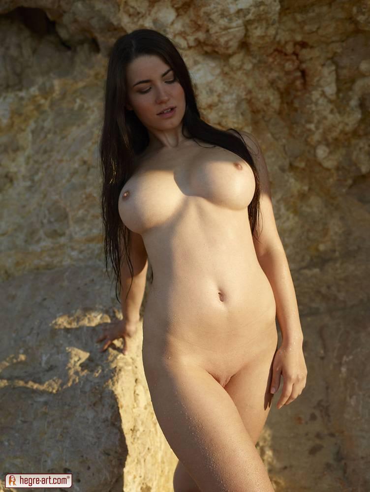 Beautiful brunette big tits
